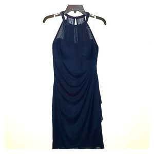 Navy blue David Bridal dress